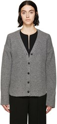 Alexander Wang Grey Shirt Tail Hem Cardigan