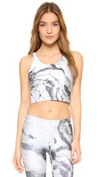 Zara Terez Reversible Marble Crop Top With Shelf Bra