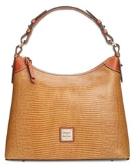 Dooney And Bourke Lizard Embossed Hobo A Macy's Exclusive Style Peanut Brittle