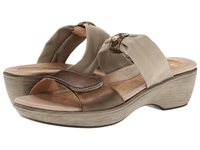 Naot Footwear Pinotage Brass Leather Taupe Stretch Women's Sandals