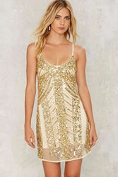 Sequin Your Love Mini Dress Gold