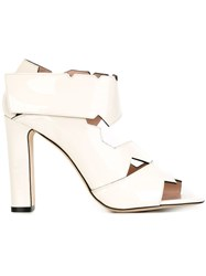 Christopher Kane Cut Out Sandals White