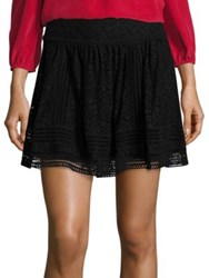 Joie Darby Lace Mini Skirt Caviar