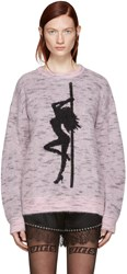 Alexander Wang Pink Oversized Dancer Sweater