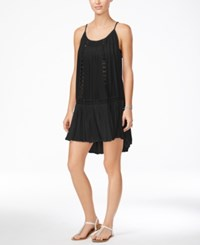 Raviya Crochet Trim Swing Dress Cover Up Women's Swimsuit Black