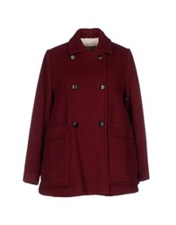 Paul And Joe Sister Coats Maroon