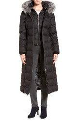 Soia And Kyo Women's Down Maxi Coat With Genuine Fox Fur Trim Hood