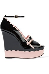 Red Valentino Redvalentino Patent Leather Wedges Black