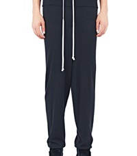 Rick Owens Long Drawstring Lounge Pants Black