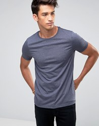 Asos T Shirt With Crew Neck In Blue Marl Navy Marl