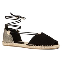 Aldo Delias Lace Up Espadrille Black Suede