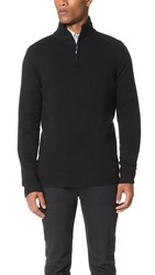 Ben Sherman Half Zip Funnel Neck Sweater True Black
