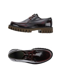 Barracuda Lace Up Shoes Maroon
