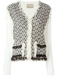 Lanvin Frayed Cardigan Nude And Neutrals