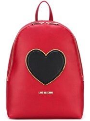 Love Moschino Heart Backpack Red