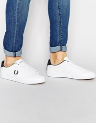 Fred Perry Hopman Leather Trainers White