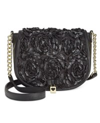 Betsey Johnson Flapover Crossbody Rosette