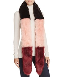 Cara Accessories Multi Color Skinny Stole Scarf 100 Bloomingdale's Exclusive Black Netural Bordeaux
