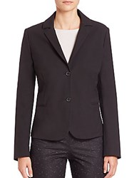 Piazza Sempione Stretch Cotton Blazer Black