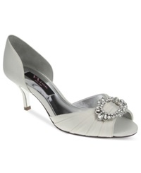 Nina Crystah Evening Pumps Women's Shoes Ivory