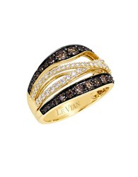 Le Vian 14K Yellow Gold Chocolate And White Diamond Ring Diamond Gold