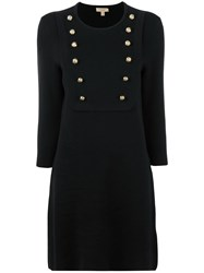 Burberry Double Breasted Dress Black