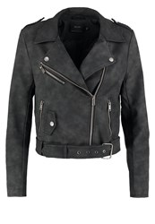 Only Onldeep Faux Leather Jacket Black