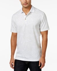 Tasso Elba Men's Big And Tall Palm Polo Only At Macy's White Combo