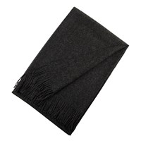 Bronte By Moon Natural Alpaca Throw Charcoal