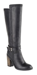 Ravel Vancouver Knee High Boots Black Leather