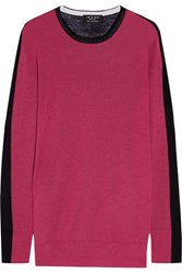 Rag And Bone Rag And Bone Verity Two Tone Cashmere Sweater Plum