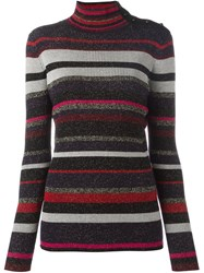 Diane Von Furstenberg Striped Mock Neck Sweater