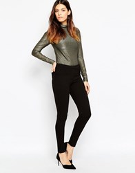 French Connection Hells Ponte Leggings In Black Black