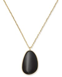 Inc International Concepts Gold Tone Black Stone Long Necklace Only At Macy's