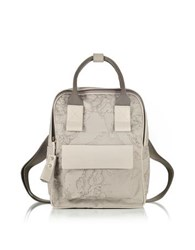 Alviero Martini Free Spirit Softy Ash Gray Fabric And Leather Backpack
