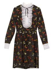 Erdem Katy Fil Coupe Silk Dress