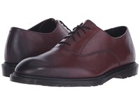 Dr. Martens Fawkes Oxford Shoe Cherry Red Temperley Men's Lace Up Casual Shoes Brown