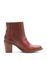 Matisse Mack Classic City Leather Ankle Booties Oxblood