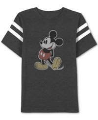 Jem Men's Mickey Mouse Graphic Print T Shirt Charcoal Heather