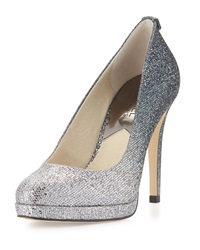 Georgia Degrade Sparkle Pump Silver Gunmetal Michael Michael Kors