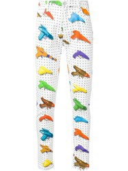 Jeremy Scott Watergun Print Trousers White