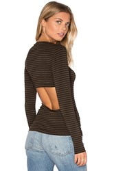 Lna Bella Long Sleeve Top Brown