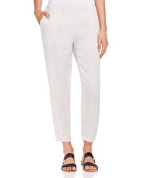 Eileen Fisher Tattersall Tapered Ankle Pants Soft White