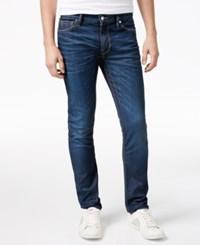 Guess Men's Slim Fit Taper Rally Blue Jeans Rally Blue Wash