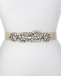 Deborah Drattell Madame Butterfly Stretch Belt White Size S 30In 75Cm