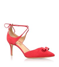 Salvatore Ferragamo Carolyn Pointed Mid Heel Court Shoe Female Pink
