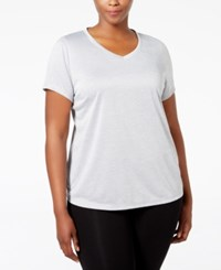 Ideology Plus Size Essential V Neck Performance T Shirt Only At Macy's Silver Ice