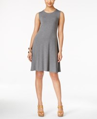 Styleandco. Style And Co. Sleeveless Shift Dress Only At Macy's Mid Heather Grey