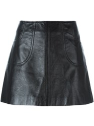 Saint Laurent Mini A Line Skirt Black