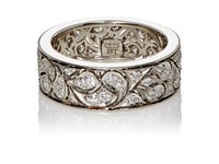 Mcteigue And Mcclelland Women's Piriform Flora Band Silver